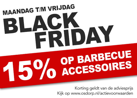 15% korting op barbecue accessoires