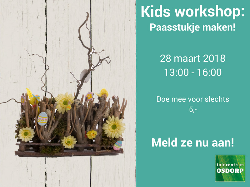 Kinder paasworkshop tuincentrum Osdorp Amsterdam