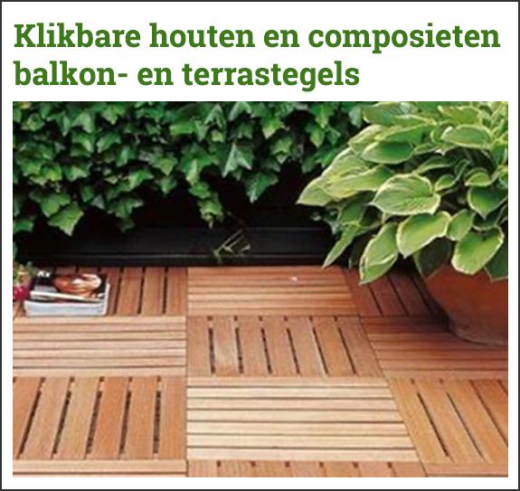 Klikbare houten en composieten terrastegels