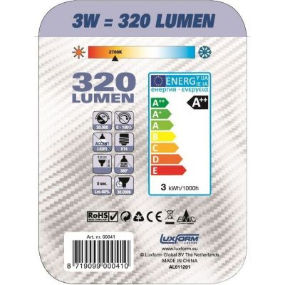 Luxform Led lamp g45 peer filament e14 3.2w - afbeelding 3